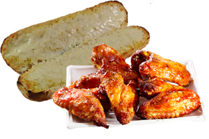 wings-garlic-bread